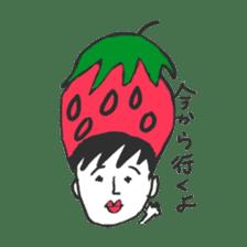 strawberry boy & his vegetables sticker #1506564