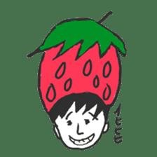 strawberry boy & his vegetables sticker #1506565
