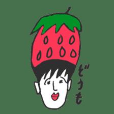 strawberry boy & his vegetables sticker #1506567