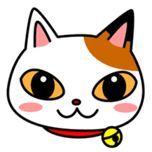 Mike of the troitoiseshell cat sticker #1507809