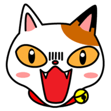 Mike of the troitoiseshell cat sticker #1507820