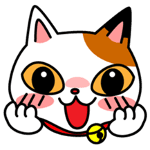 Mike of the troitoiseshell cat sticker #1507822