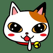 Mike of the troitoiseshell cat sticker #1507825