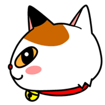 Mike of the troitoiseshell cat sticker #1507829