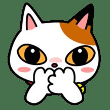 Mike of the troitoiseshell cat sticker #1507835