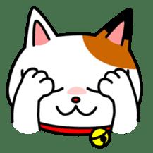 Mike of the troitoiseshell cat sticker #1507836
