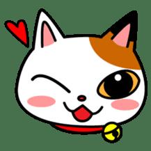 Mike of the troitoiseshell cat sticker #1507838