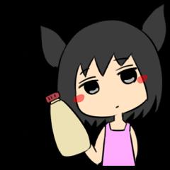 Jitome chan with mayonnaise
