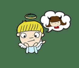 Story of poor Valentine and Devil Debbie sticker #1515968