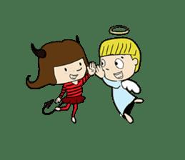 Story of poor Valentine and Devil Debbie sticker #1515973