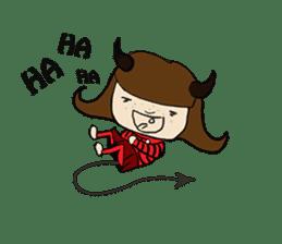 Story of poor Valentine and Devil Debbie sticker #1515977