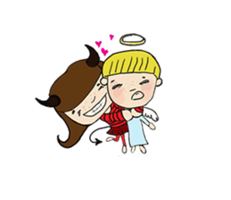 Story of poor Valentine and Devil Debbie sticker #1515982