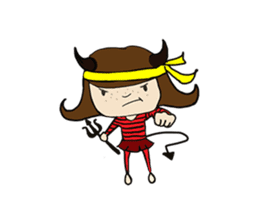 Story of poor Valentine and Devil Debbie sticker #1516000