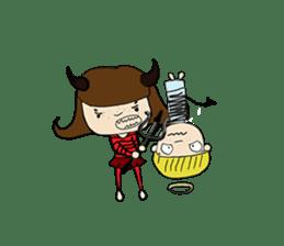 Story of poor Valentine and Devil Debbie sticker #1516001