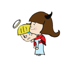 Story of poor Valentine and Devil Debbie sticker #1516006
