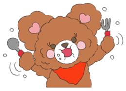 * Chocolate Bear * sticker #1518800