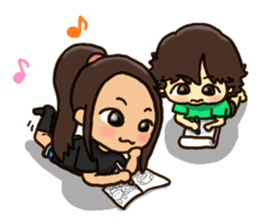 HARUMAKI sisters & brother sticker #1518846