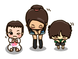 HARUMAKI sisters & brother sticker #1518847