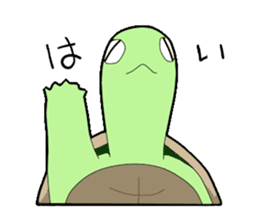 sticker of cute turtle sticker #1521179