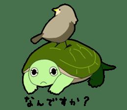 sticker of cute turtle sticker #1521182