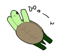 sticker of cute turtle sticker #1521187