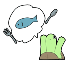 sticker of cute turtle sticker #1521190