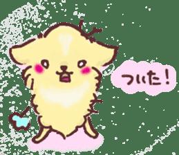 Chihuahua peek from gap sticker #1521225