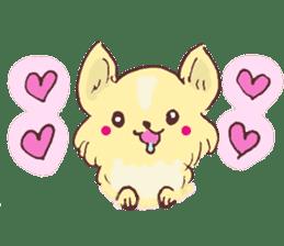 Chihuahua peek from gap sticker #1521229