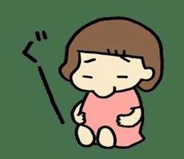 One year old baby Otowa-chan sticker #1527871