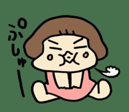 One year old baby Otowa-chan sticker #1527884