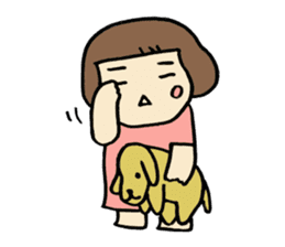 One year old baby Otowa-chan sticker #1527893