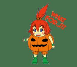 Pumpkin-chan's Halloween activities (EN) sticker #1528017