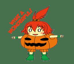 Pumpkin-chan's Halloween activities (EN) sticker #1528018