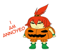Pumpkin-chan's Halloween activities (EN) sticker #1528029