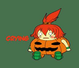 Pumpkin-chan's Halloween activities (EN) sticker #1528030