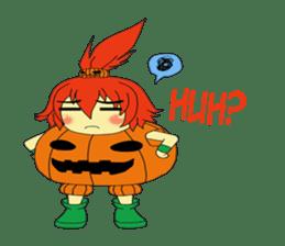 Pumpkin-chan's Halloween activities (EN) sticker #1528035