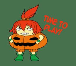 Pumpkin-chan's Halloween activities (EN) sticker #1528037