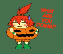 Pumpkin-chan's Halloween activities (EN) sticker #1528039