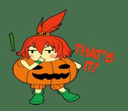 Pumpkin-chan's Halloween activities (EN) sticker #1528044