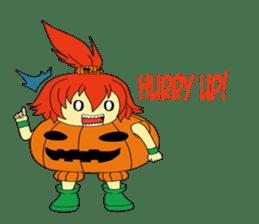Pumpkin-chan's Halloween activities (EN) sticker #1528050