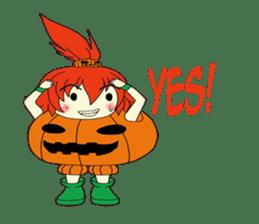 Pumpkin-chan's Halloween activities (EN) sticker #1528051
