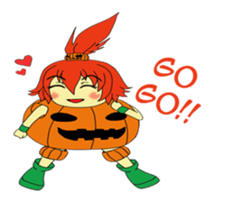 Pumpkin-chan's Halloween activities (EN) sticker #1528053