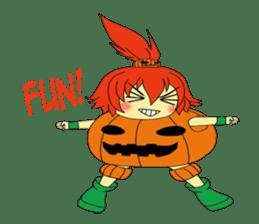 Pumpkin-chan's Halloween activities (EN) sticker #1528055