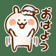 Lovely Rabbit written with brush sticker #1532500