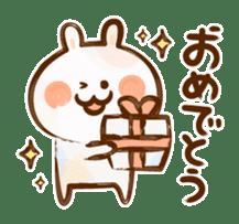 Lovely Rabbit written with brush sticker #1532503