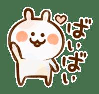 Lovely Rabbit written with brush sticker #1532505