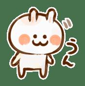 Lovely Rabbit written with brush sticker #1532508