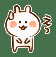 Lovely Rabbit written with brush sticker #1532509