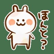 Lovely Rabbit written with brush sticker #1532510