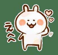 Lovely Rabbit written with brush sticker #1532511